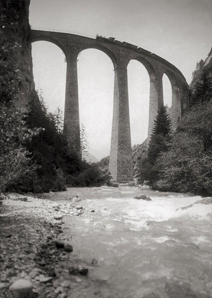 Il Viadotto di Landwasser © Historic RhB www.historic-rhb.ch/thusis-samedan-st-moritz-pontresina-692.html