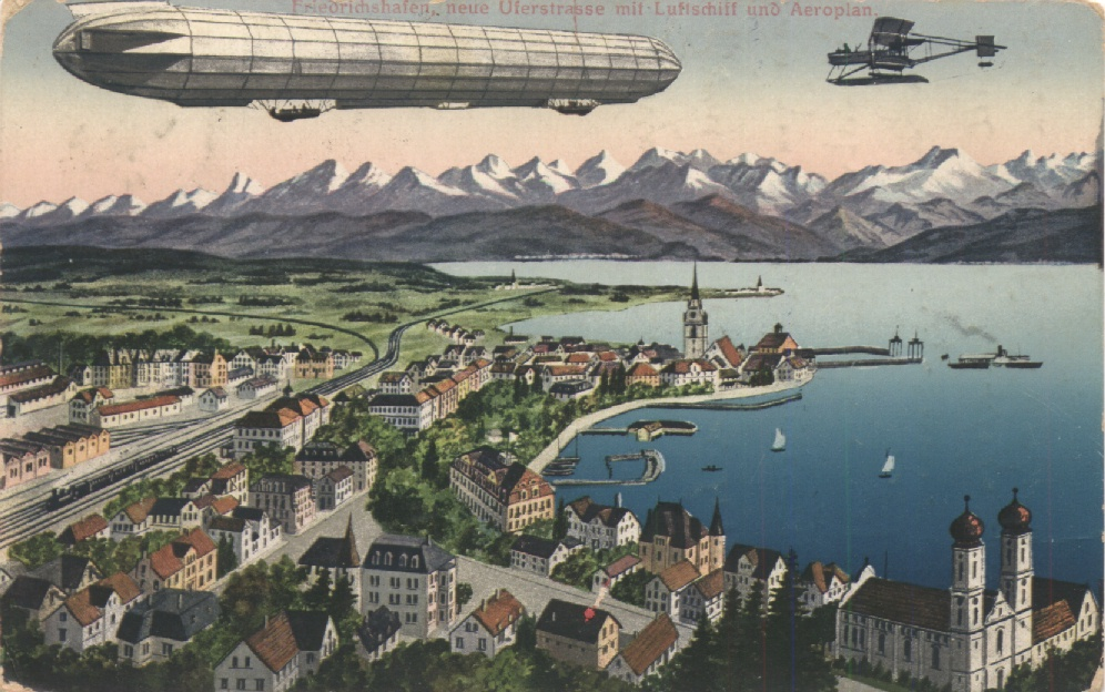 Friedrichshafen in una cartolina del 1916 - Fonte Wikimedia Commons https://goo.gl/ucWUVi