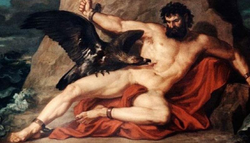 La punizione di Prometeo (1878), di Christian Griepenkerl.