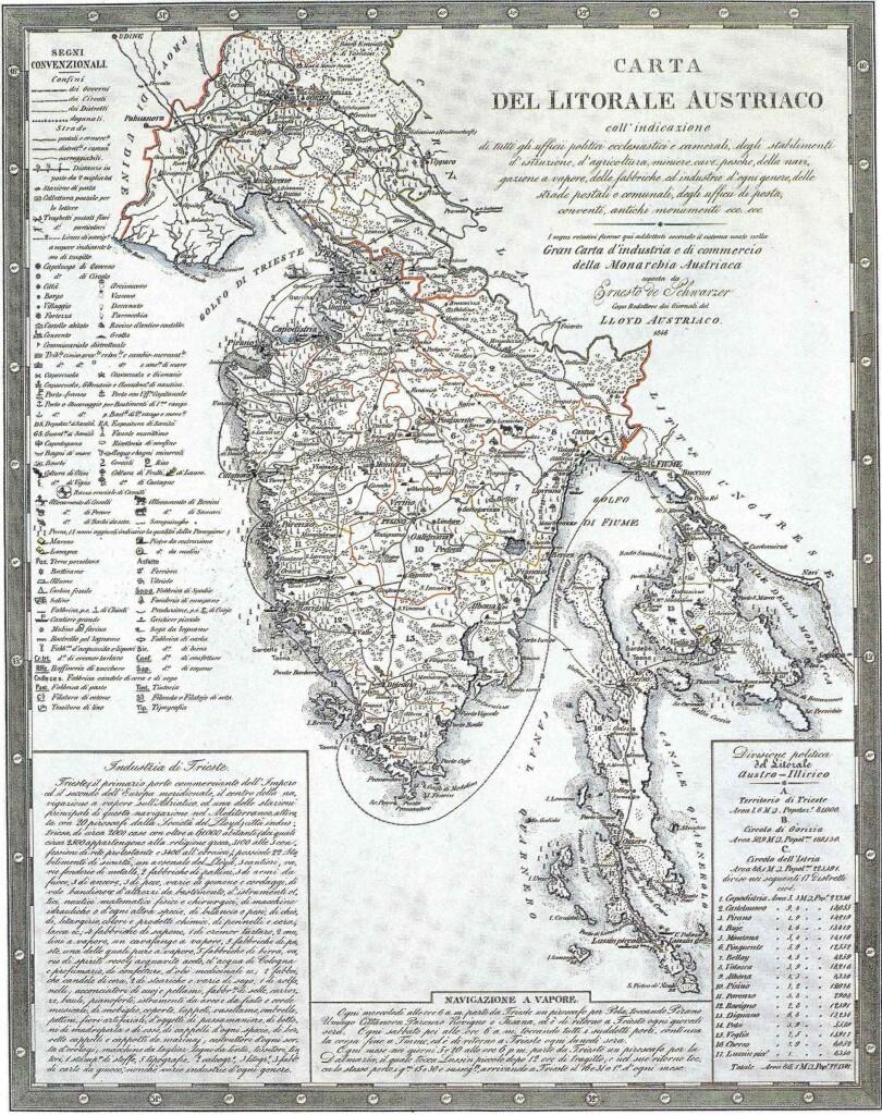 Carta economica dell'Istria nel 1846 (da www.istrianet.org)