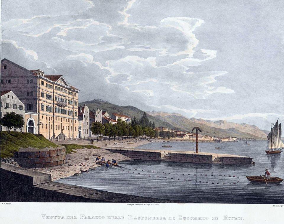 """Il Palazzo della """"Zuccheriera"""" disegnato da Christian von Mayr (1832)"""