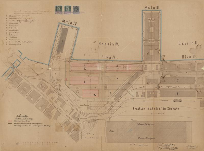 Progetti originali del Porto Vecchio (da portovecchio.comune.trieste.it)