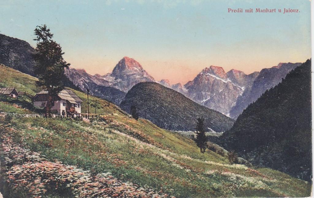 Cartolina del Passo del Predil, 1909 (Wikimedia Commons)