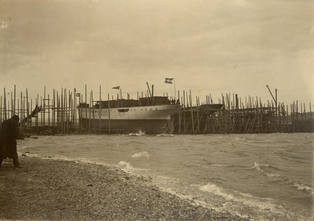 Varo del piroscafo misto Trieste. 16 dicembre 1908 © Associazione Marinara Aldebaran, Trieste